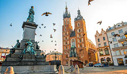 Sale of air tickets to Krakow from Yanair