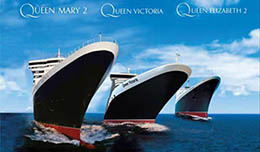 Cruises Cunard: meeting of the three Queens